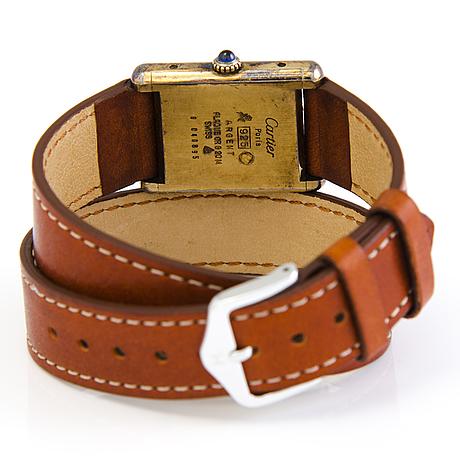 Must de cartier, tank argent, wristwatch, c. 23.5 x 27 mm.