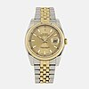 Rolex, oyster perpetual, datejust, chronometer, wristwatch, 36 mm.