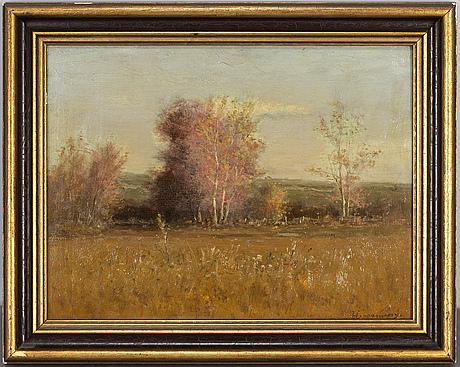 Joseph h. greennwood, oil on panel, signed.