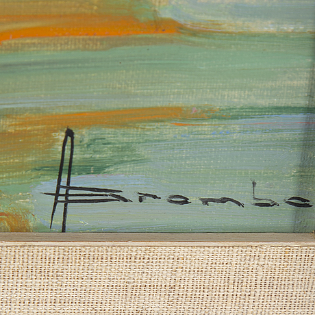 Angelo brombo, oil on canvas, signed.
