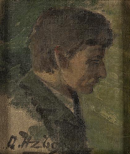 Olle hjortzberg, oil on canvas, signed.