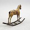 A ca 1900 rocking horse.