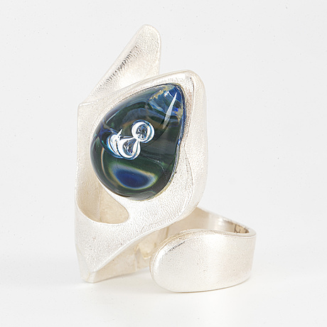 Lapponia, ring, silver and acrylic.
