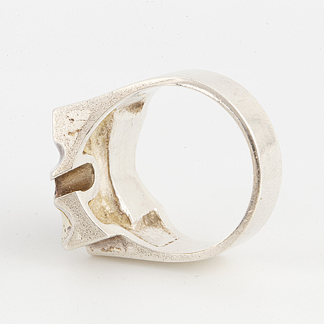Lapponia, ring and necklace, silver, 'zulu'.