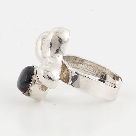 Bengt erik hallberg, collier samt ring, sterlingsilver med labradorit.