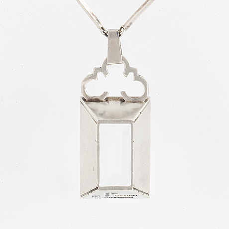 Per emilson, pendant silver with rock crystal.