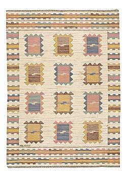 """204. Märta Måås-Fjetterström, A CARPET, """"Ljusa plador"""", flat weave ca 220,5 x 159 cm, signed AB MMF."""
