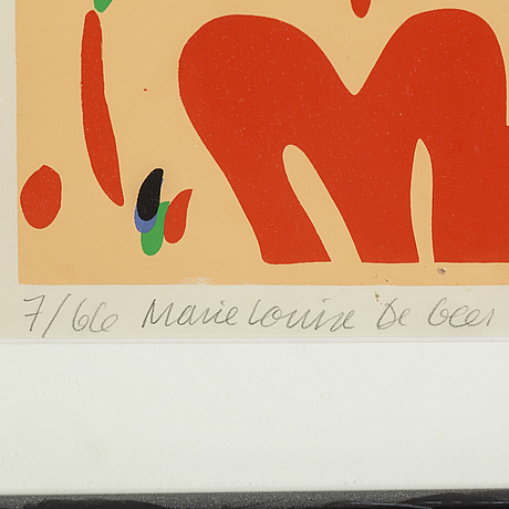 Marie-louise ekman,  serigraph signed and numbered 7/66.