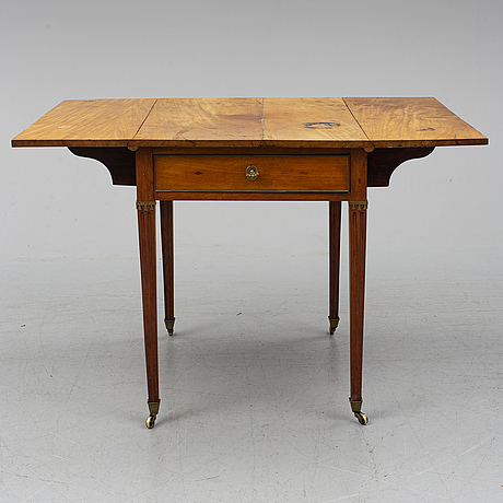 A swedish late gustavian table, late 18th century.