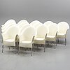 Philippe starck, a set of 14 'lord yo' chairs for driade, 1994.