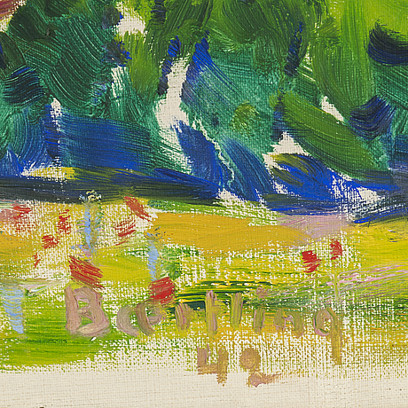 Olle baertling, oil on canvas, signed and dated -42.