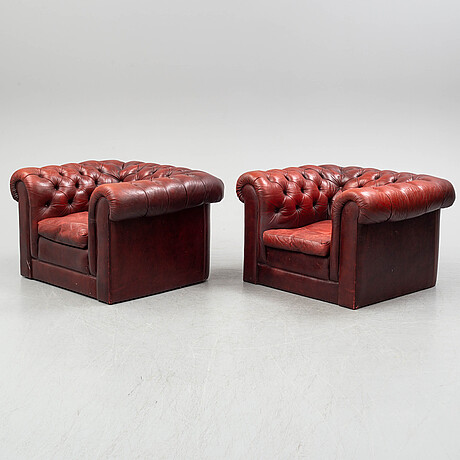 A sofa and a pair of armchairs, england, second half of the 20th century.
