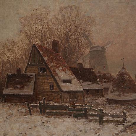 Johann jungblut, oil on canvas, signed.