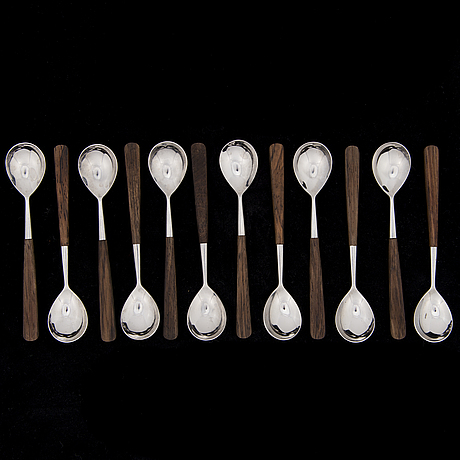 "Bertel gardberg, a cutlery set of 61 pieces ""lion de lux"" by bertel gardberg, hackman, finland. designed 1958."