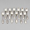 A set of 12 russian silver coffee-spoons, mark of grachev, st. petersburg 1888.