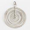 Tapio wirkkala, silver moon pendant.