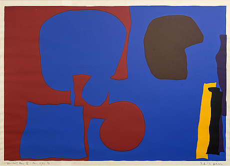 Patrick heron, screenprint signeed dated and numbered  1/33 -67.
