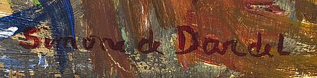 Simone de dardel, oil on panel signed.