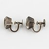 Wiwen nilsson silver and rock crystal earrings.