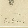 Agnes cleve, pencil on paper. signed a cleve.