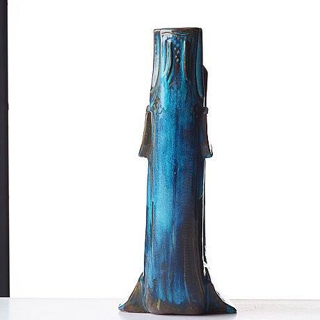 "Wilhelm kåge, skulptur ""drakfisk"", farsta, gustavsbergs studio 1950-tal."