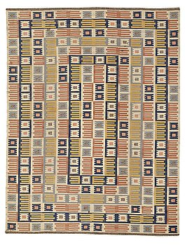"203. Märta Måås-Fjetterström, A CARPET, ""Porslinsmattan"", flat weave, ca 354,5 x 272,5 cm, signed AB MMF."