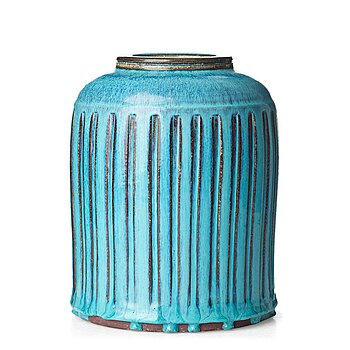 "41. Wilhelm Kåge, a ""Farsta"" stoneware jar, Gustavsberg studio, Sweden 1960."