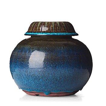 "42. Wilhelm Kåge, a ""Farsta"" stoneware vase, Gustavsberg studio, Sweden 1959."