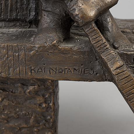 Kai noramies, sculpture, bronze, signed.