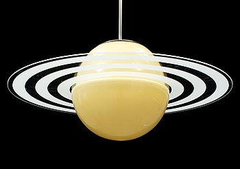A Saturn type ceiling light, mid 20th Century.