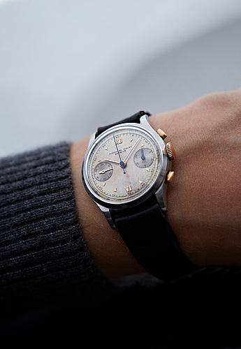 """Audemars piguet, chronograph, """"concours international le brassus""""."""