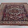 An antique turkish rug, probably bergama, ca 256 x 183 cm.