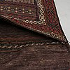 A bag, semi-antique baluch, ca 138 x 61 cm.