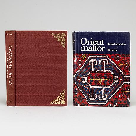 """Mattlitteratur, 12 vol b.la.  """"orientaliska mattor"""", heinrich jacoby, 1900-tal."""