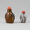 Two chinese snuff bottles, 20th century.