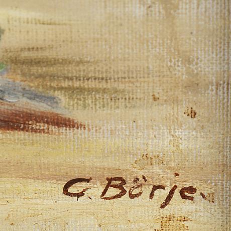 Gideon bÖrje, olja på duk, signerad.