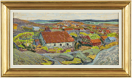 Agnes cleve, oil on canvas. signed a cleve.