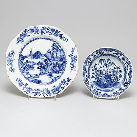 Servisdelar, fyra delar, kompaniporslin. qingdynastin, qianlong (1736-95).
