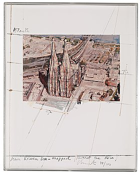 """341. Christo & Jeanne-Claude, """"Mein Kölner Dom Wrapped, Project for Köln"""" from """"Five Urban Projects""""."""