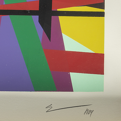 Steven mccallum, screenprint, signed and numbered 16/48.