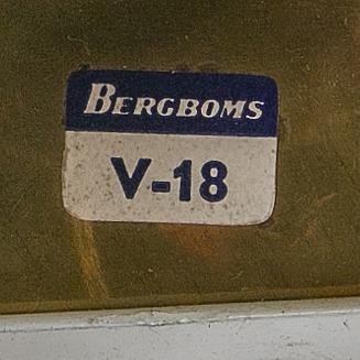 """Bergboms, 1 par vägglampor, """"v-18"""", 1900-talets andra hälft."""