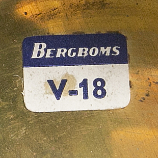 """Bergboms, a pair of wall lamps, """"v-18"""", second half of 20th century."""