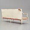 A gustavian sofa by johan hammström (master in stockholm 1794-1812).