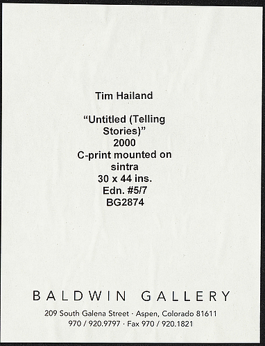 Tim hailand, c-print mounted on sintra, 2000, numbered 5/7.