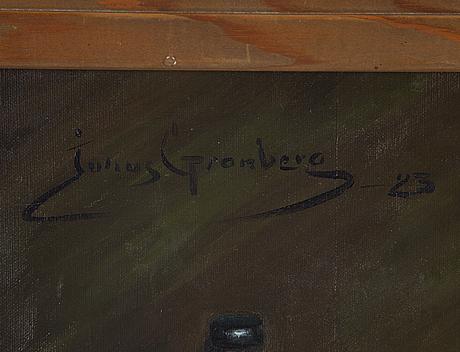 Julius granberg, olja på duk, signerad och daterad -23.