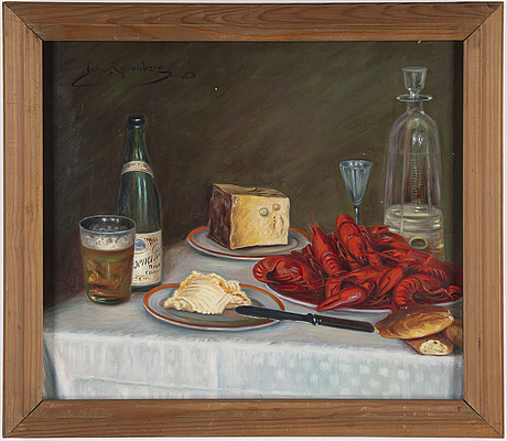 Julius granberg, oil on canvas, signed and dated -23.