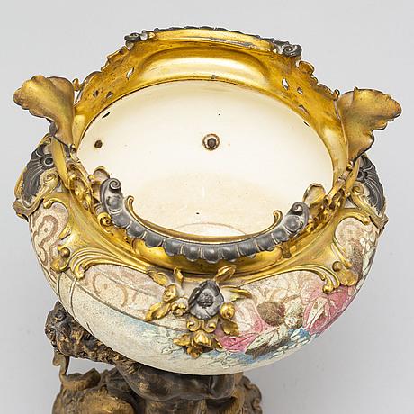 A late 19th century rococo style centerpiece.