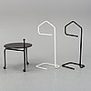 A collapsible table and the clothes hangers from ikea, 1970's/80's.