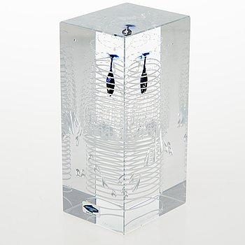 OIVA TOIKKA, A Jubilee cube, signed Oiva Toikka 180/2000. 1793-1993 Nuutajärvi Notsjö -200.