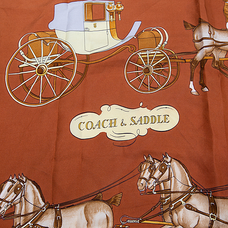 HermÈs, scarf, 'coach & saddle'.